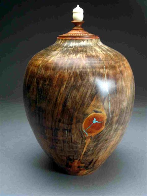 Handcrafted Urns - handcrafted turned wood urns for sale rogers woodturner