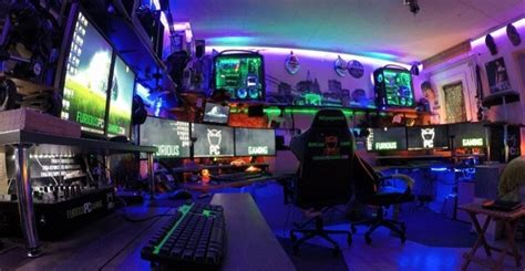 Cool Bedroom Ideas For Guys this gamer built a gaming room that glows like the sun