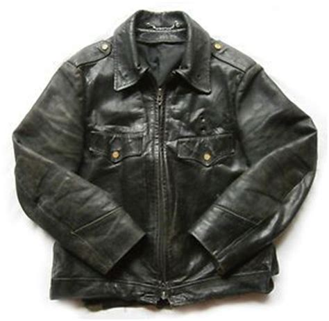 rare  nypd horsehide leather motorcycle jacket