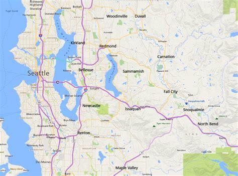 seattle eastside map greater seattle area home search