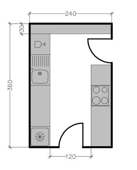 plan amenagement cuisine 8m2 plans de cuisine ferm 233 e de 3 224 9 m2 cuisine ferm 233 e gain