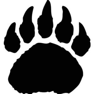bear paw print logo stencils polyvore