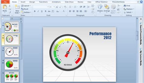 gauges for powerpoint presentations