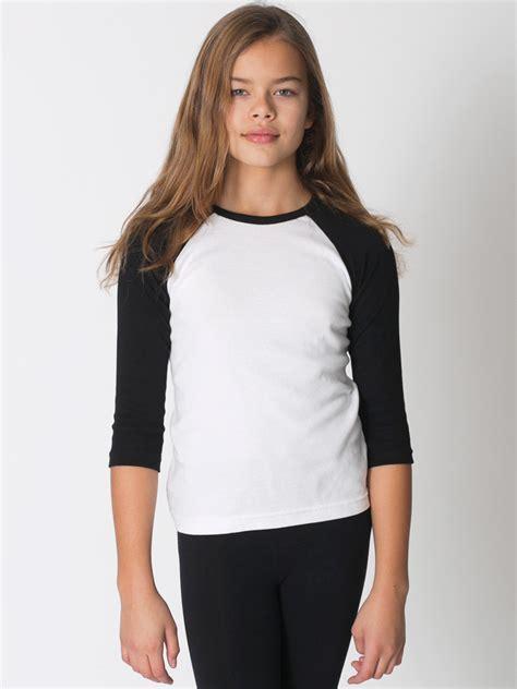 Raglan 02 From Ordinal Apparel american apparel youth baby rib 3 4 sleeve raglan evan webster ink