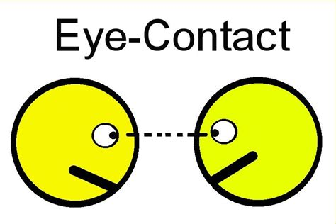 What To Include In A Job Resume by Make And Maintain Eye Contact