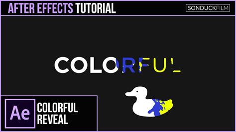 tutorial logo reveal after effects after effects tutorial colorful text and logo reveal