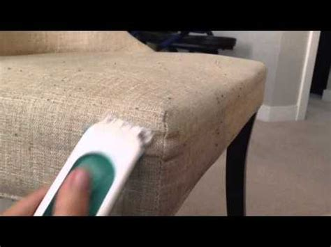 remove pilling from couch dining chair fabric pill removal youtube