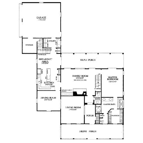 Country Style House Plan 3 Beds 3 Baths 2500 Sq Ft Plan 2500 Square Foot Country House Plans