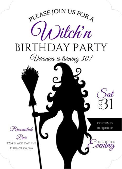 sassy bday card template sassy witch birthday invitation