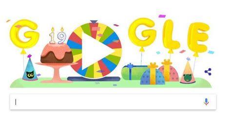 imagenes google cumpleaños google celebra sus 19 a 241 os con una ruleta de la fortuna