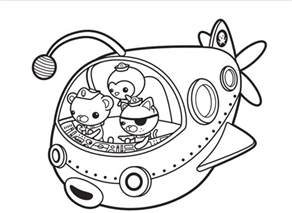 coloring pages printable print octonauts captain barnacles coloring