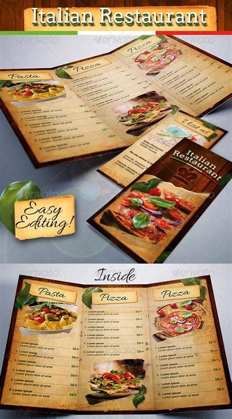italian restaurant menu templates graphicriver italian restaurant food menu template tri fold
