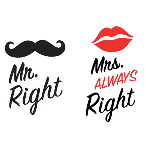 love mugs mr right in mrs always right