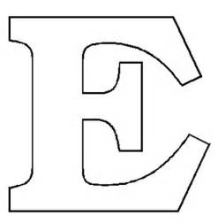 letter e template alphabet numbers block patterns