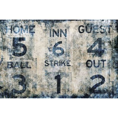 Baseball Wall Murals baseball scoreboard wall mural pbteen