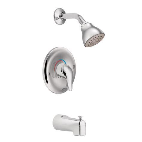 moen chateau bathroom faucet moen l2353 chateau tub and shower faucet set with moen s positemp shower valve chrome single