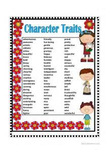 character traits worksheet free esl printable worksheets