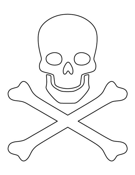 pirate template skull and crossbones pattern use the printable outline