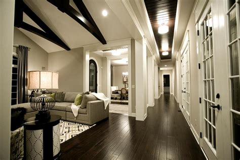 light wood floors with dark gray walls wood floors