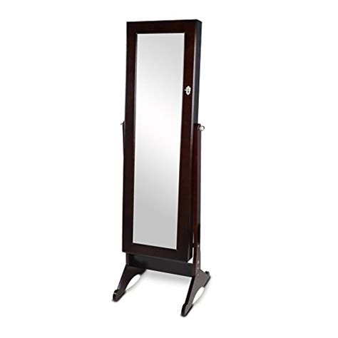 jewelry armoire cheval standing mirror elegant brown mirrored cheval jewelry armoire floor