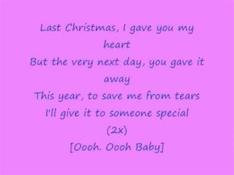 printable lyrics last christmas wham george michael wham last christmas with lyrics youtube