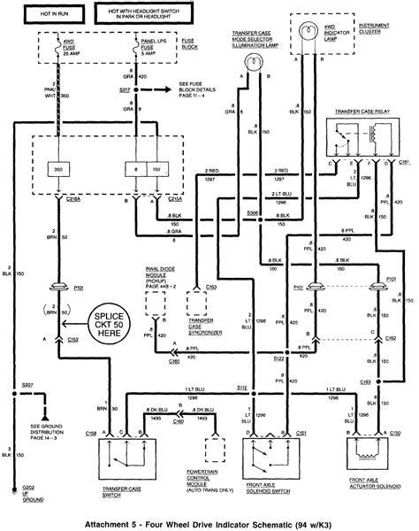 1994 K1500 Transfer Case Wiring Diagram