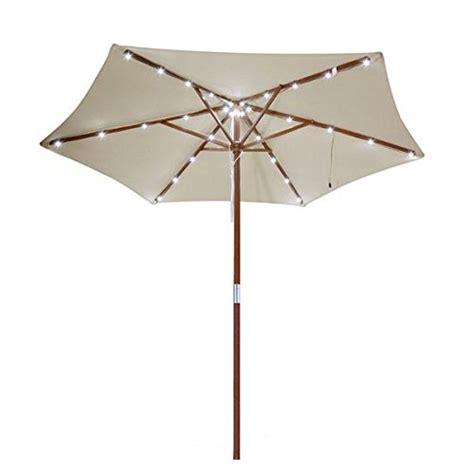 Cheap 8 Ft Outdoor Wooden Market Patio Umbrella W Solar Patio Umbrella With Solar Lights