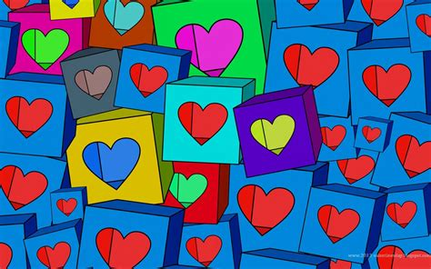 wallpaper colorful heart valentines day hearts hd wallpapers 1024px and 1920px i
