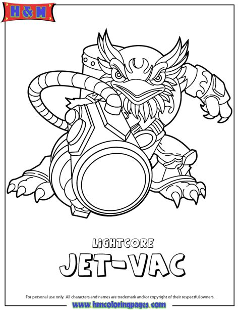 Skylanders Coloring Pages Jet Vac | skylanders giants air lightcore jet vac coloring page h