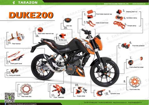 Ktm Duke 125 Aftermarket Parts Functional And Decorative Motorcycle Parts And Accessories