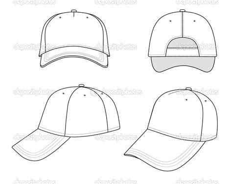 hat design template 12 baseball hat design template images baseball cap