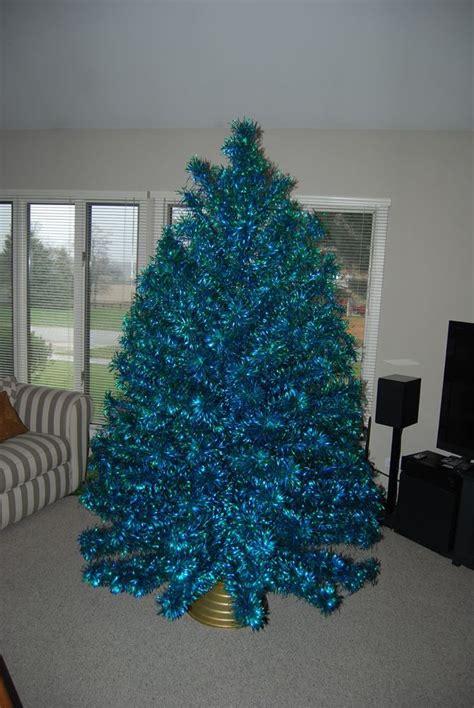 blue green 7 1 2 ft aluminum christmas tree blue green