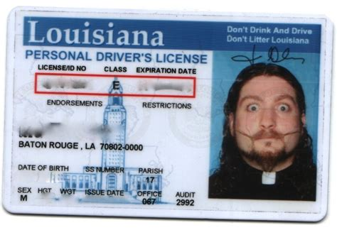 louisiana id card template how to get a driver s license in louisiana new in nola