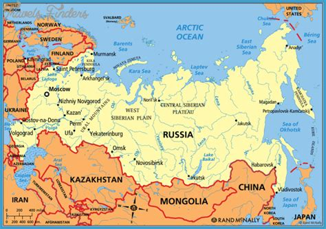 russia in map russia map travelsfinders