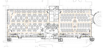 call center floor plan four into one