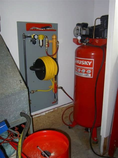 show us your compressor plumbing and manifolds the garage journal board garage workshop