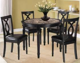 Black dining room set ideas with fascinating black wood round all