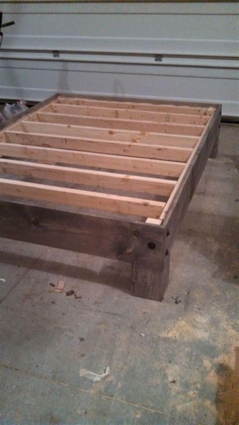 diy platform bed salvaged door headboard part