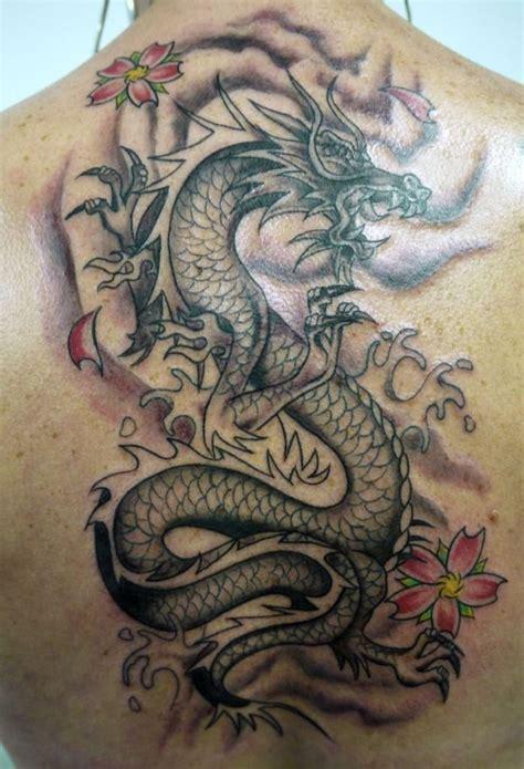 tattoo 3d dragao tatuagem de drag 227 o chin 234 s com flores nas costas fotos