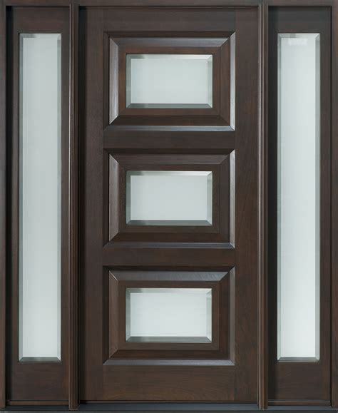 large single custom wood exterior doors with narrow glass transitional front entry doors in chicago il at glenview haus