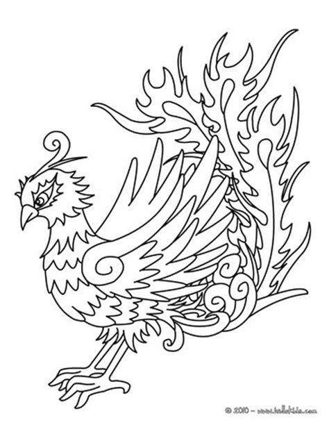phoenix coloring pages hellokids com