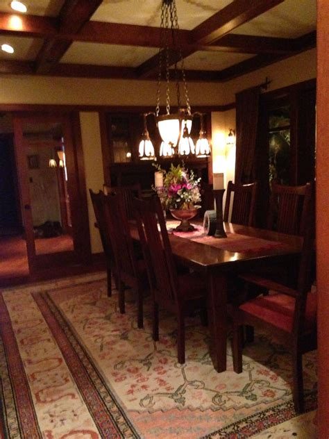 craftsman style dining room design  home craftsman