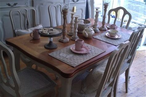 painted shabby chic furniture farmhouse table oak