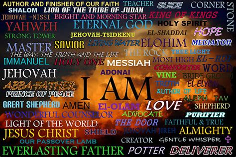god names different names of god in christianity