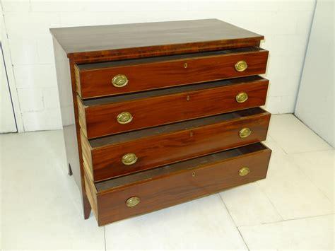 amer federal period hepplewhite mahogany chest drawers