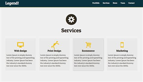 html5 website template free legend free responsive html5 one page website template