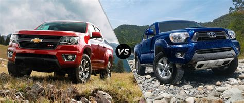 Toyota Vs Chevy Toyota Tacoma Verses 2015 Chevy Colorado Html Autos Post