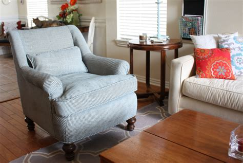 How To Reupholster A Living Room Chair Reupholstering The New Living Room Chair Beckwith S Treasures
