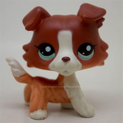 ebay dogs 1542 littlest pet shop brown collie puppy blue