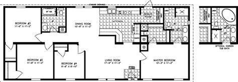 4 bedroom mobile homes 1400 to 1599 sq ft manufactured home floor plans